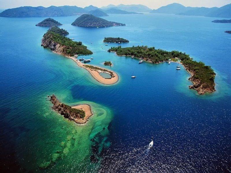 Yassıca Adalar ( Yassıcalar ) Fethiye Körfezi